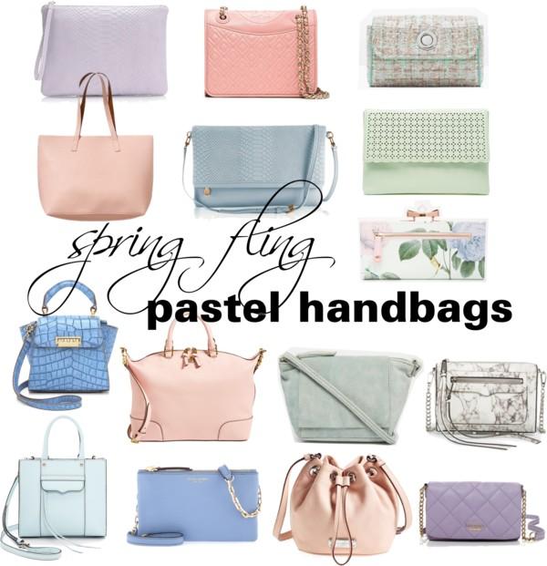 Spring Fling Pastel Handbags Glitter Amp Gingham