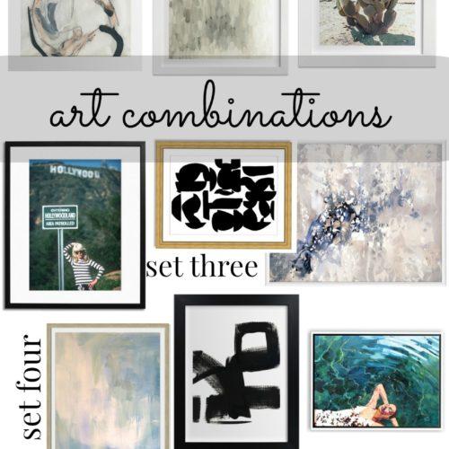 Art Combinations: home decor inspiration