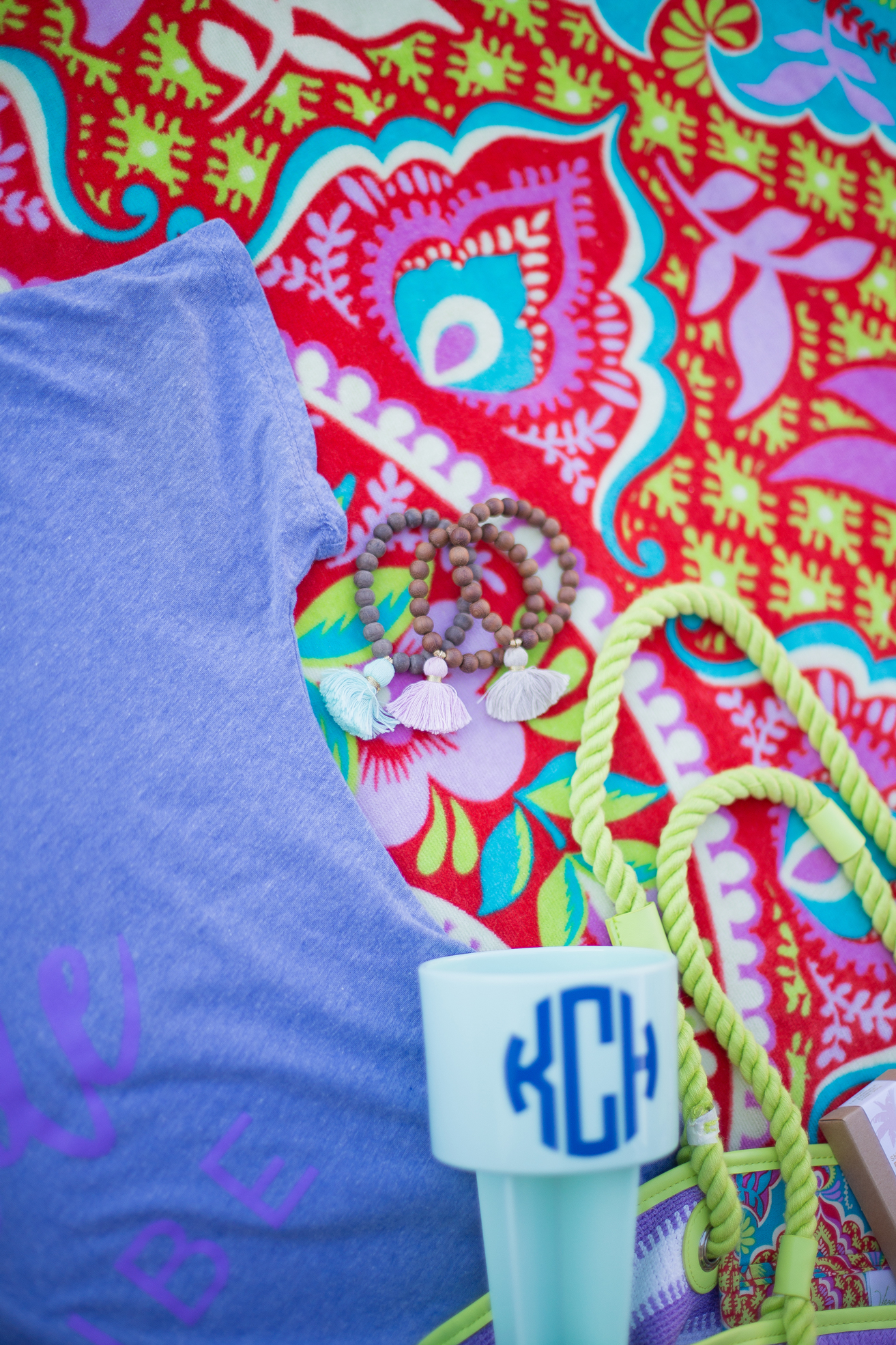 Bachelorette Party Goodie Bag Vera Bradley Beach Towel
