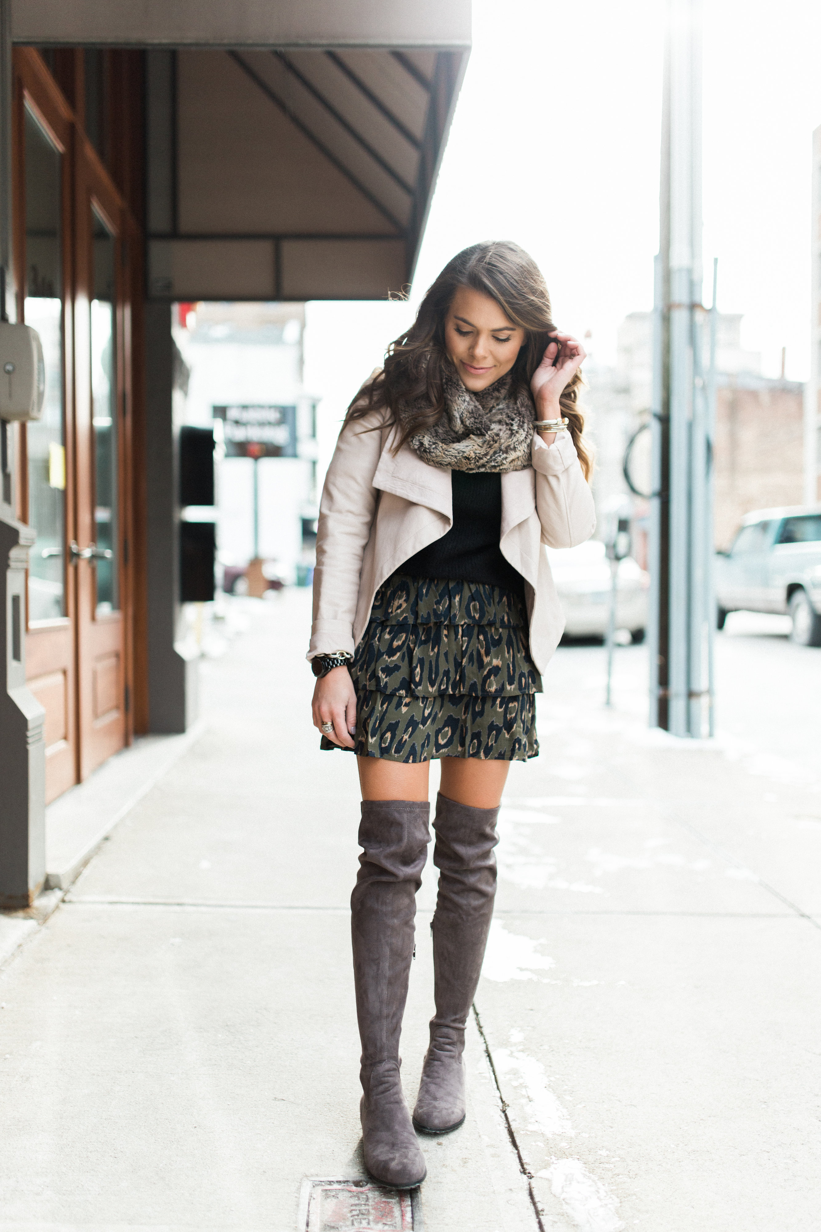 6d02528a24 Winter Outfits to Copy   Ft. Leopard Skirt