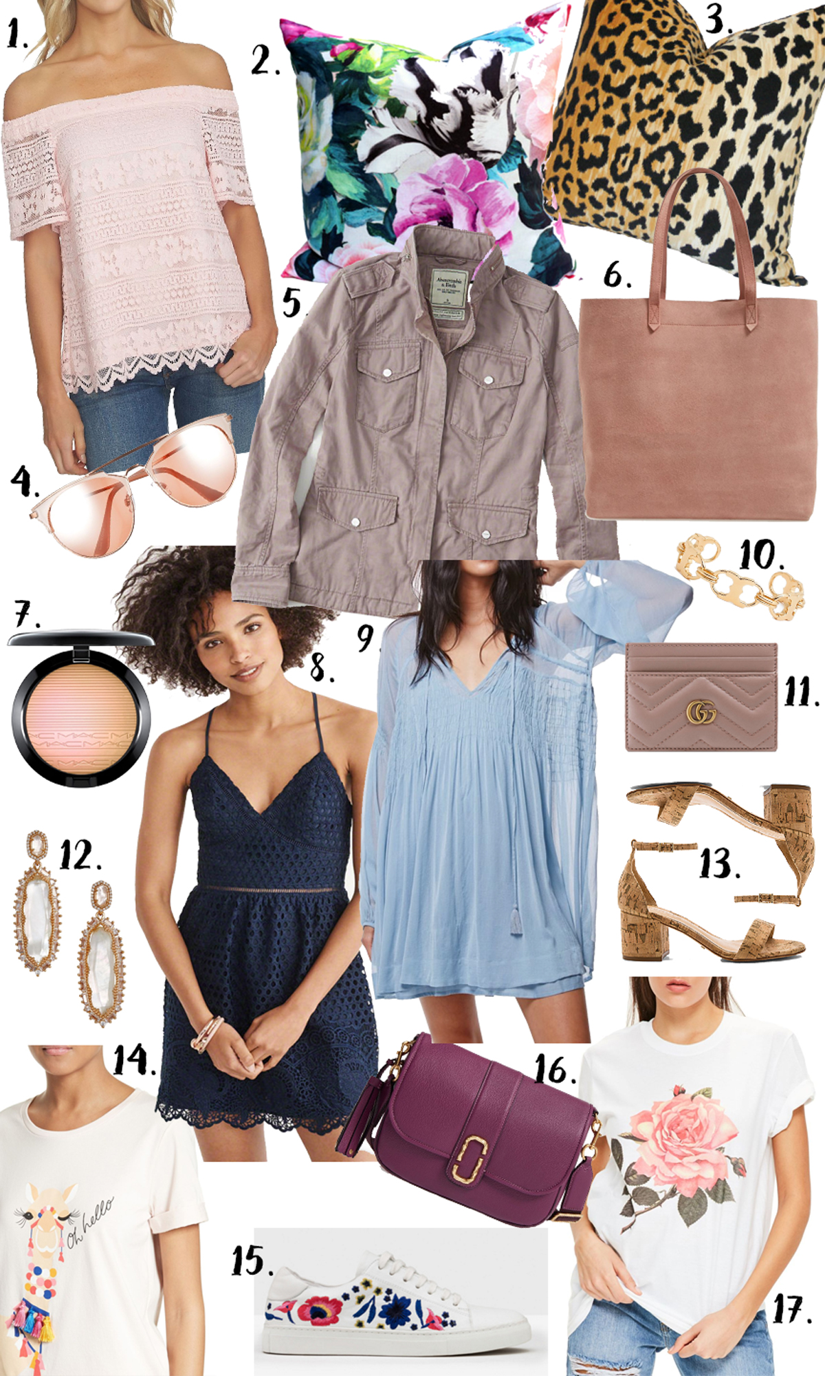 Spring Wishlist via Glitter & Gingham / Best spring trends, spring closet musts / Ft. Abercrombie & Fitch, Madewell, Kendra Scott, Gucci, Kate Spade