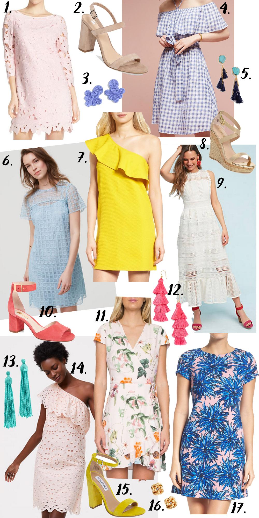 Best Easter Dresses Under $200 via Glitter & Gingham // Nordstrom, LOFT, Anthropologie