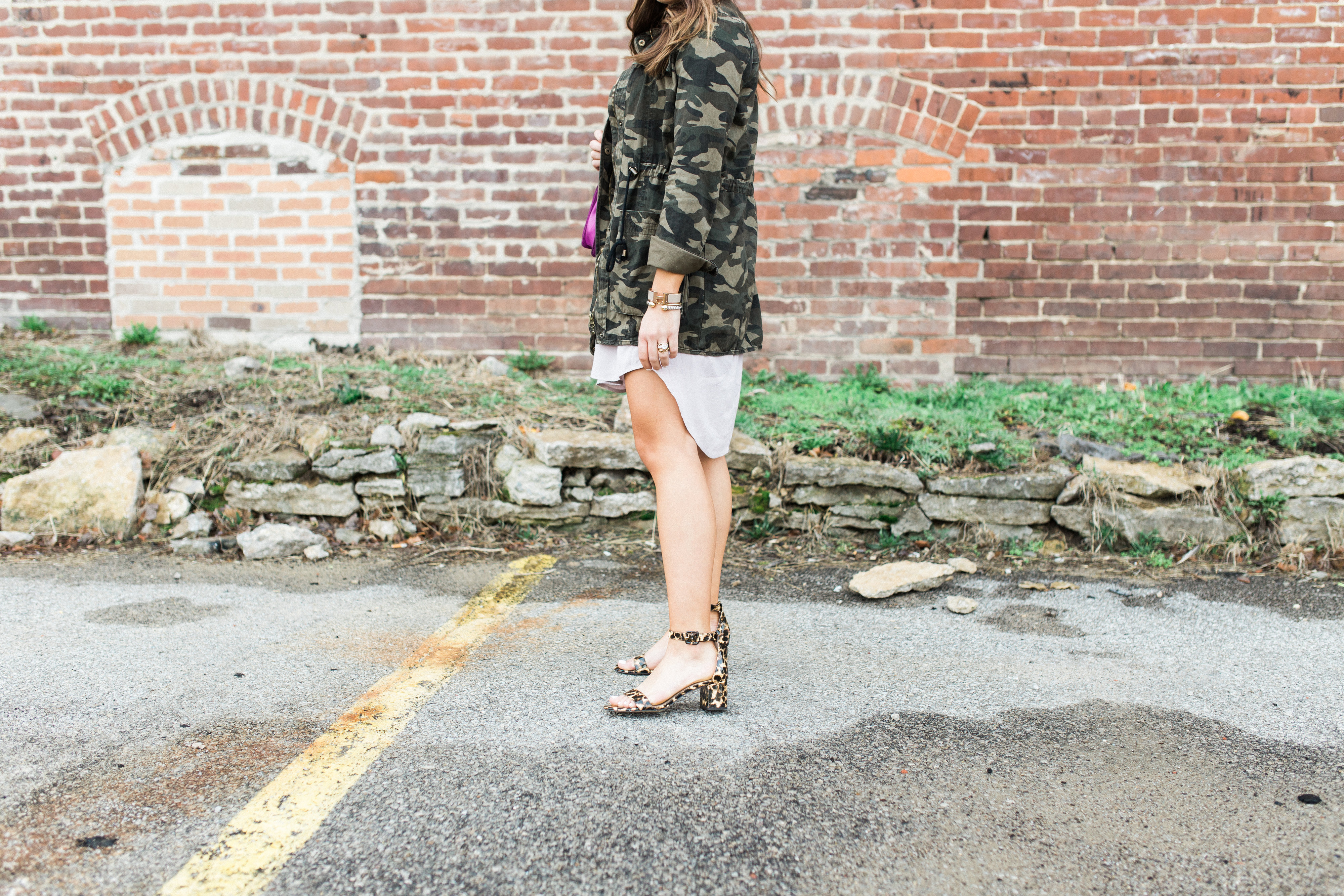 How to style a camo jacket for Spring via Glitter & Gingham // Ft. Nordstrom, Ann Taylor, Rebecca Minkoff // Spring Style Inspiration // Easy spring outfits