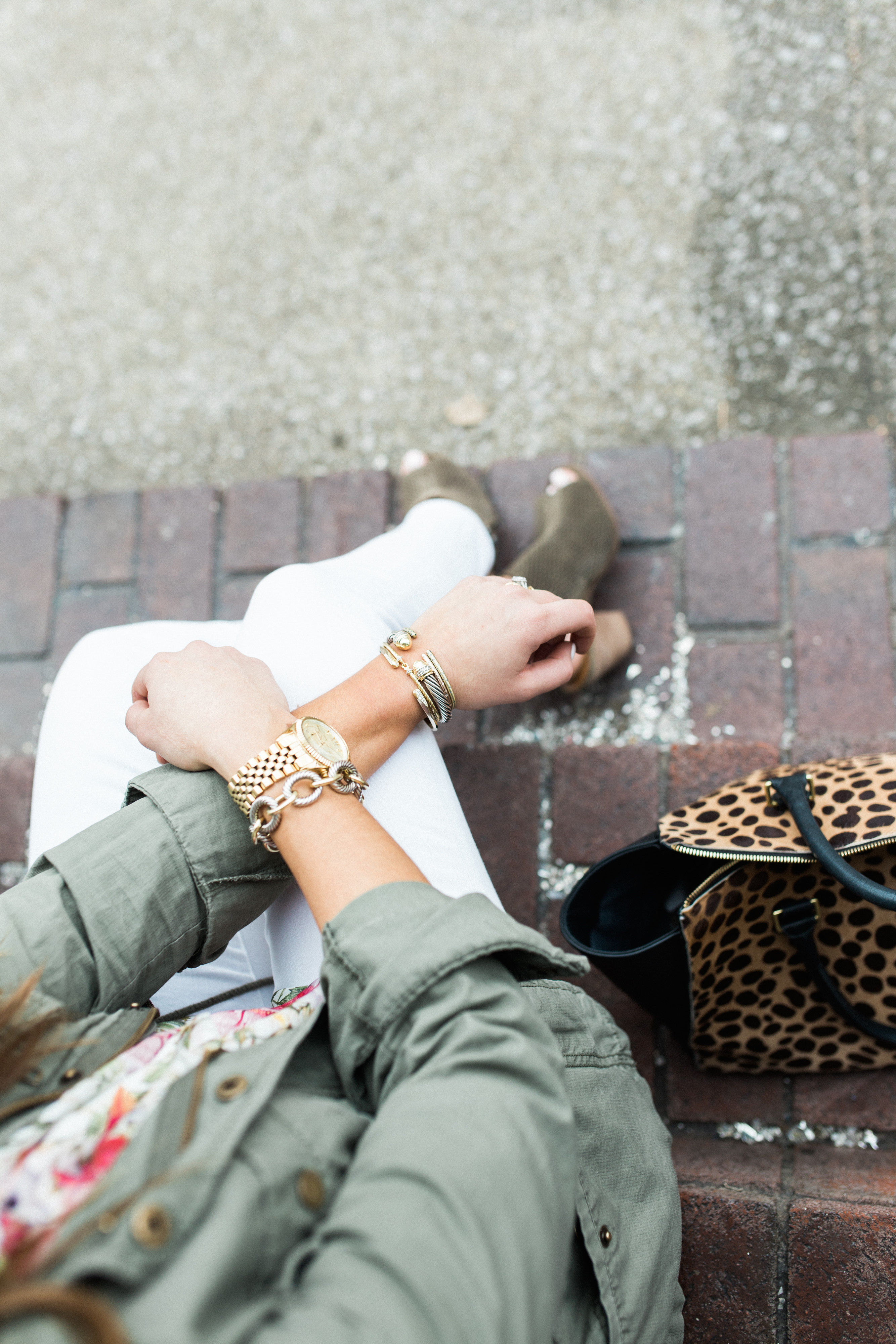 Spring Style Inspiration via Glitter & Gingham // How to wear a utility jacket, how to wear white jeans // Spring Style // Spring Outfit Ideas