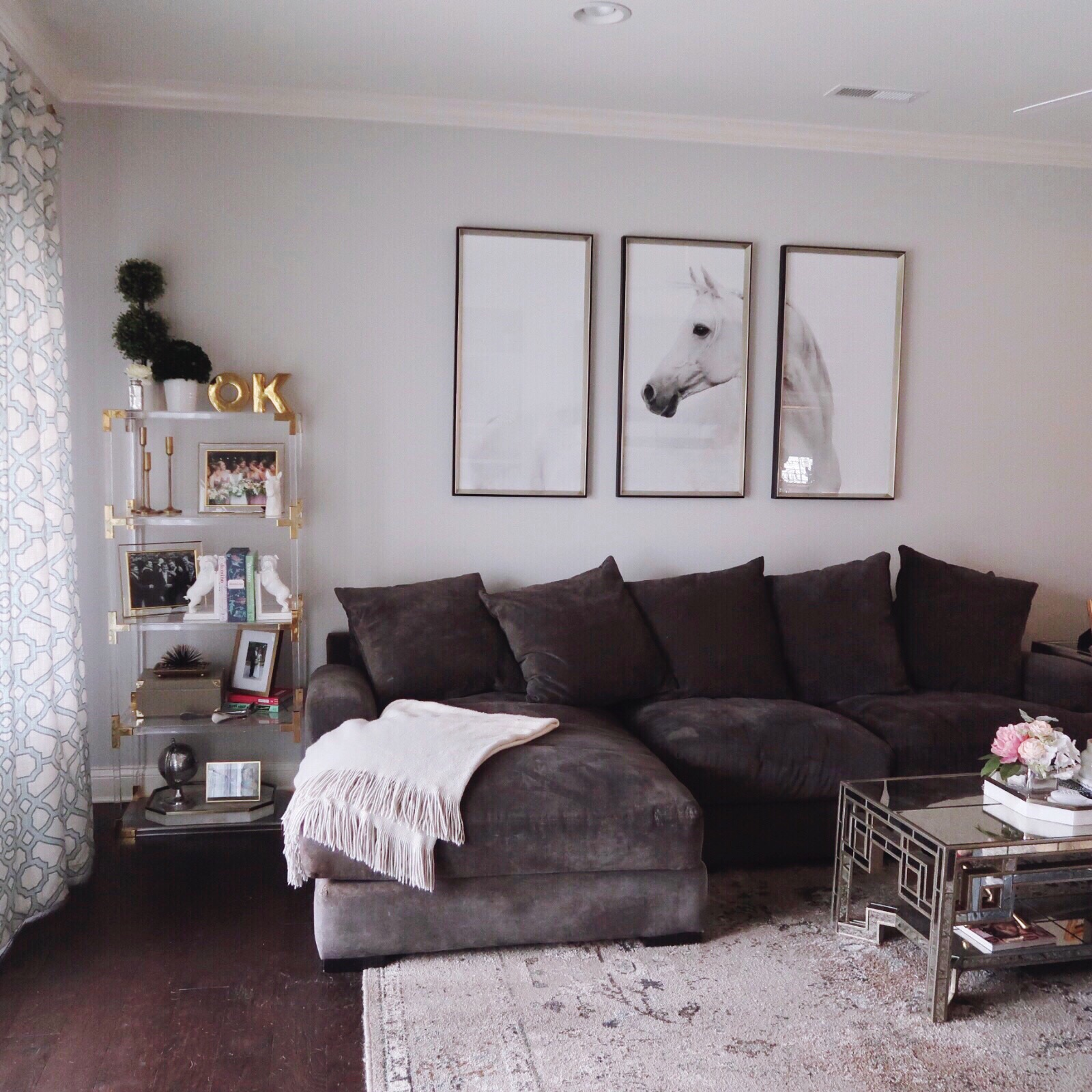 Interior Design Inspiration Via Glitter Gingham Z Gallerie Couch