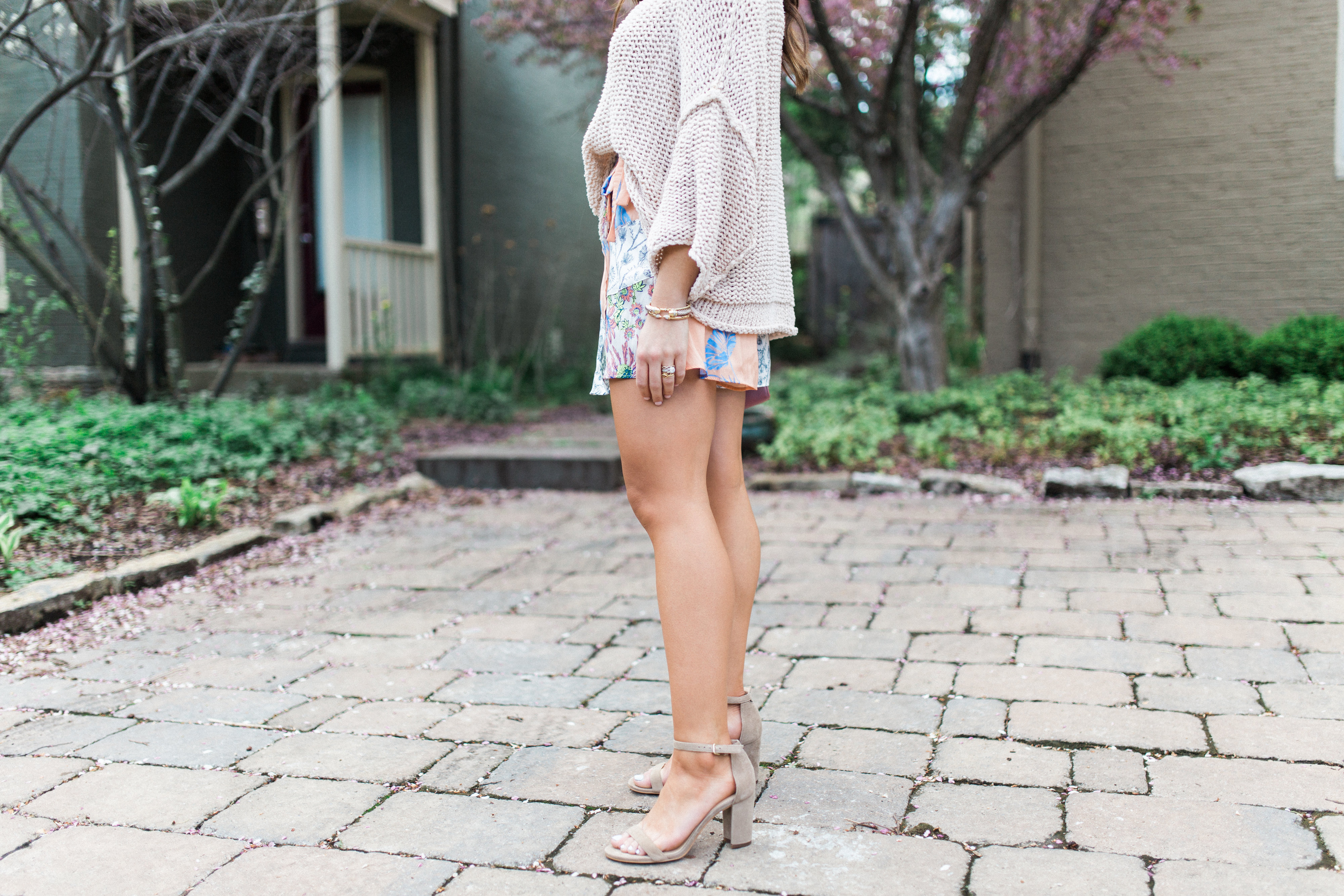 Free People Skort / How to wear a summer sweater