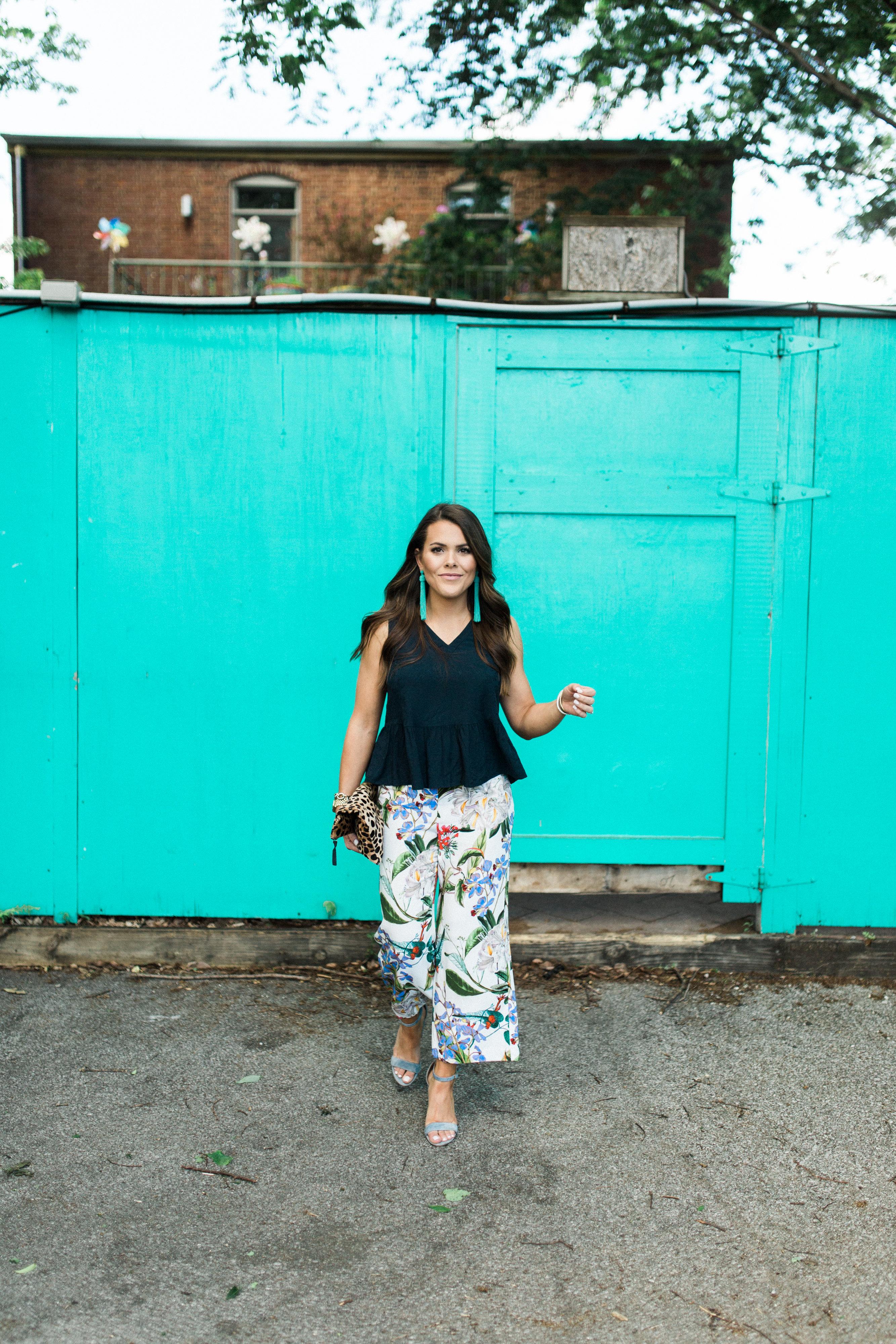 Ann Taylor Floral Pants / Summer Work Wear