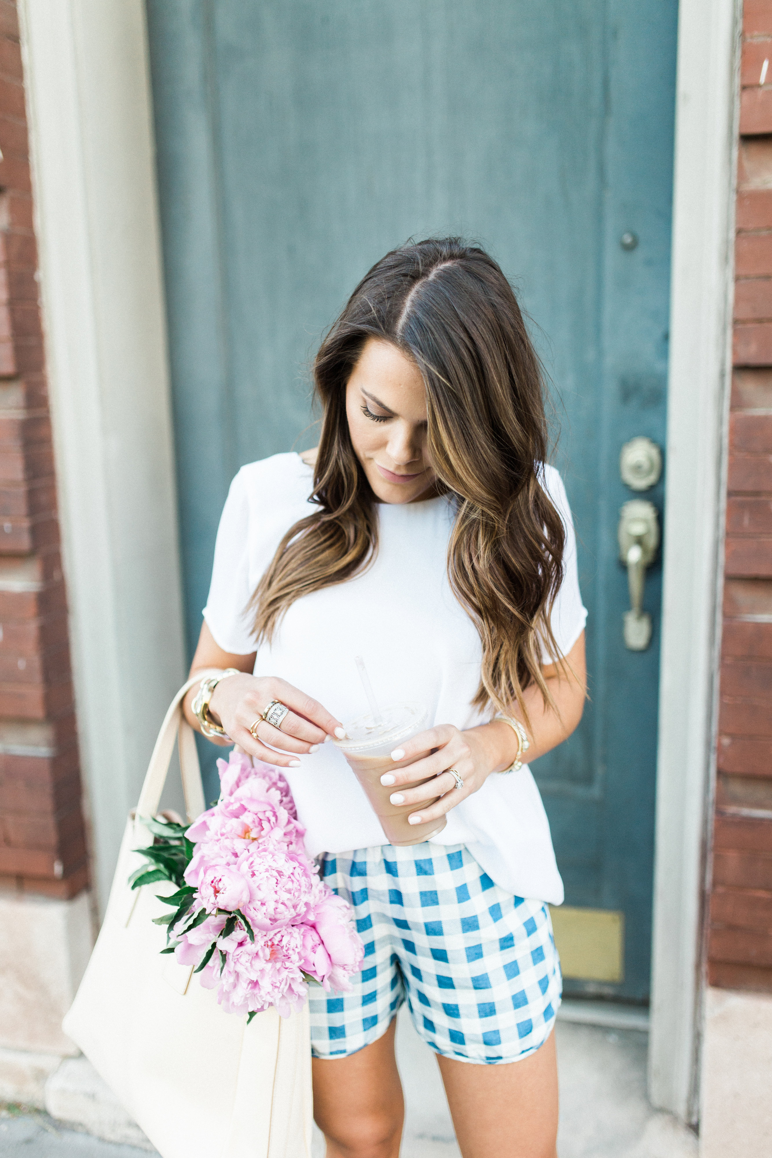 gingham shorts / casual style