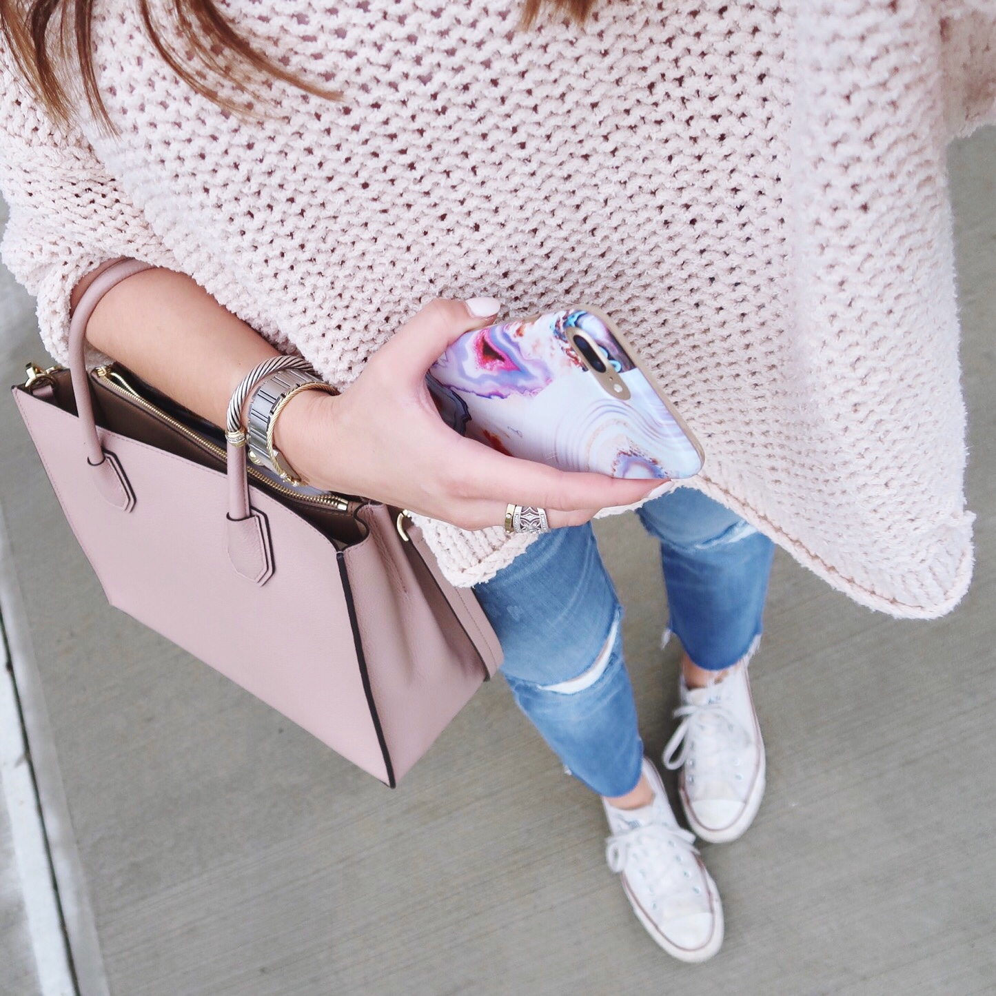 Casual Spring Outfit // Ft. Michael Kors Mercer tote, Free People & Madewell