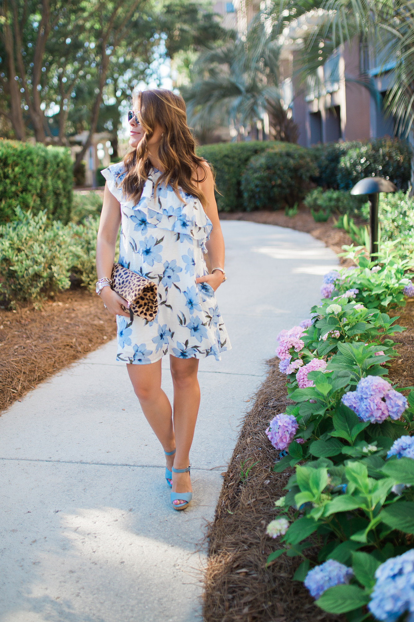 Blue Floral Dress / Summer Style