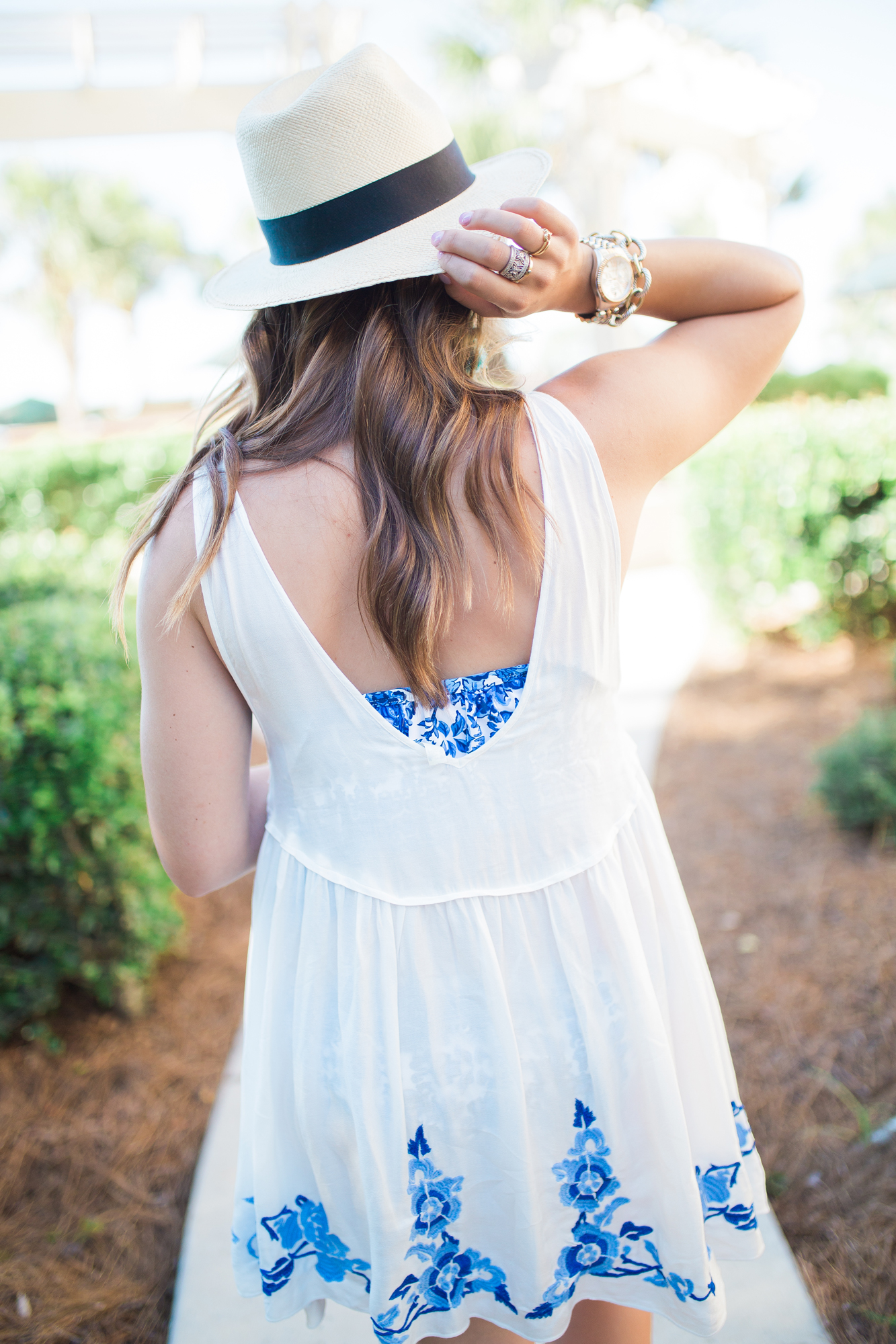 off the shoulder bikini / free people cover up