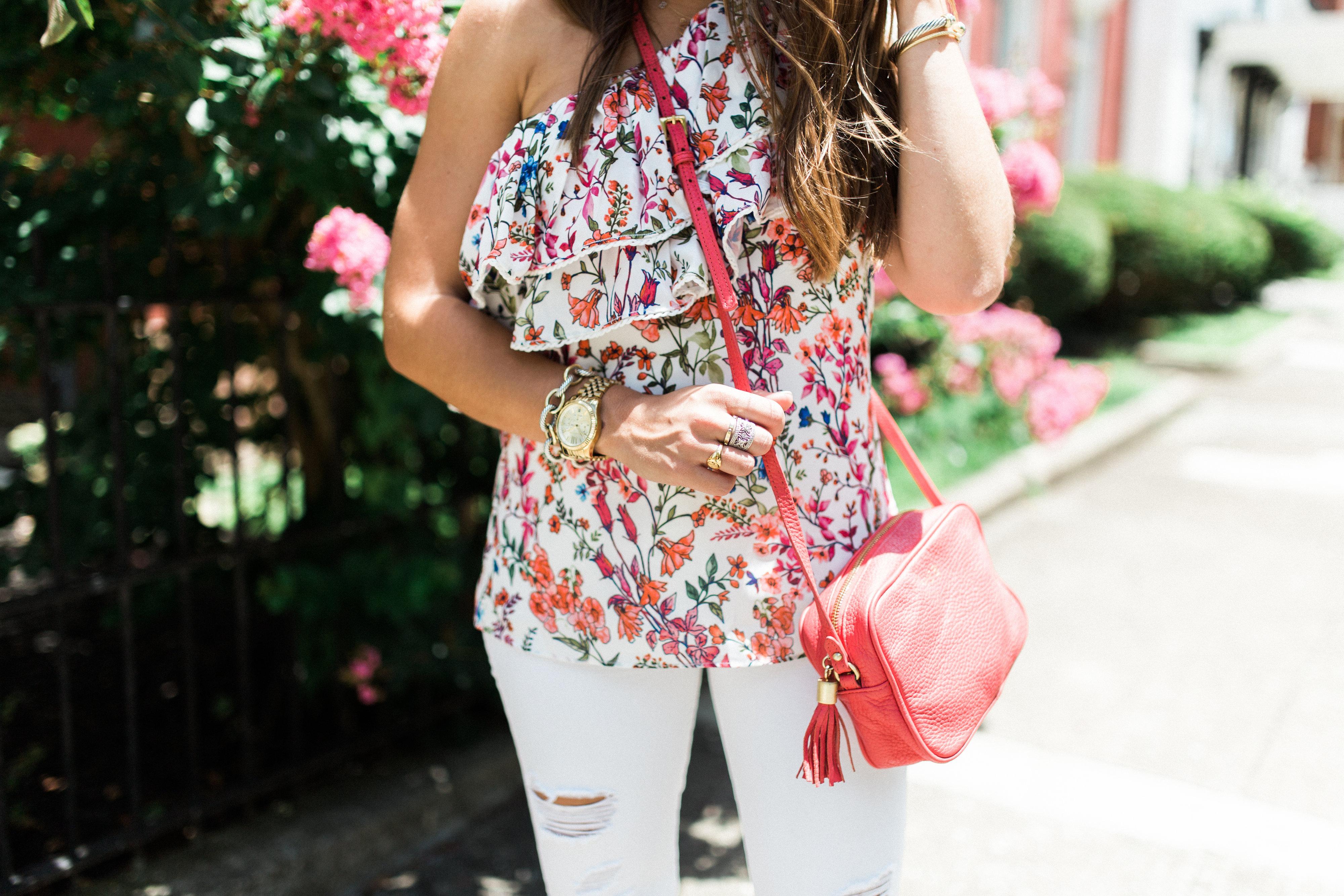 Floral One Shoulder Top / Summer Style