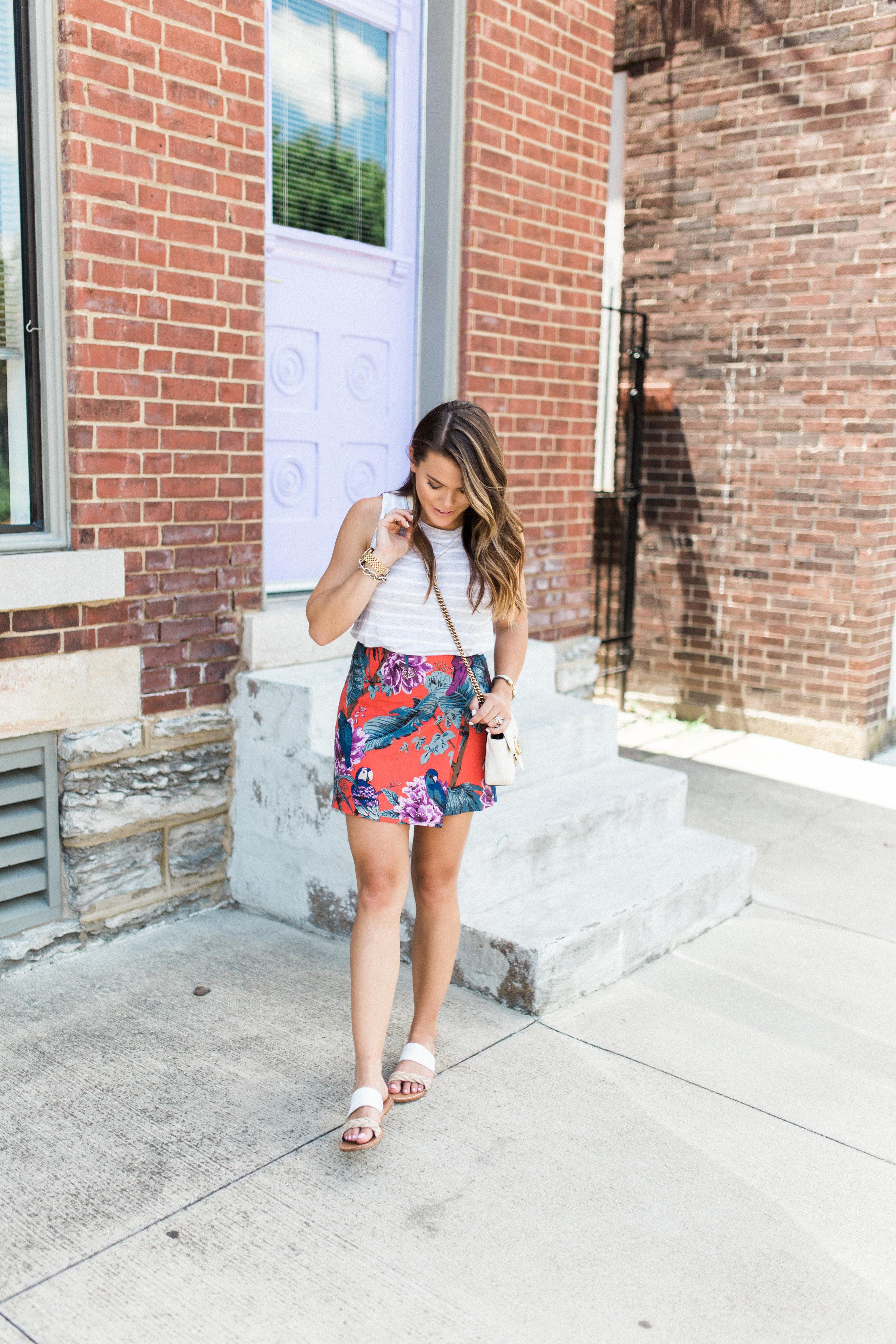 Tropical Skirt / Wrap Skirt