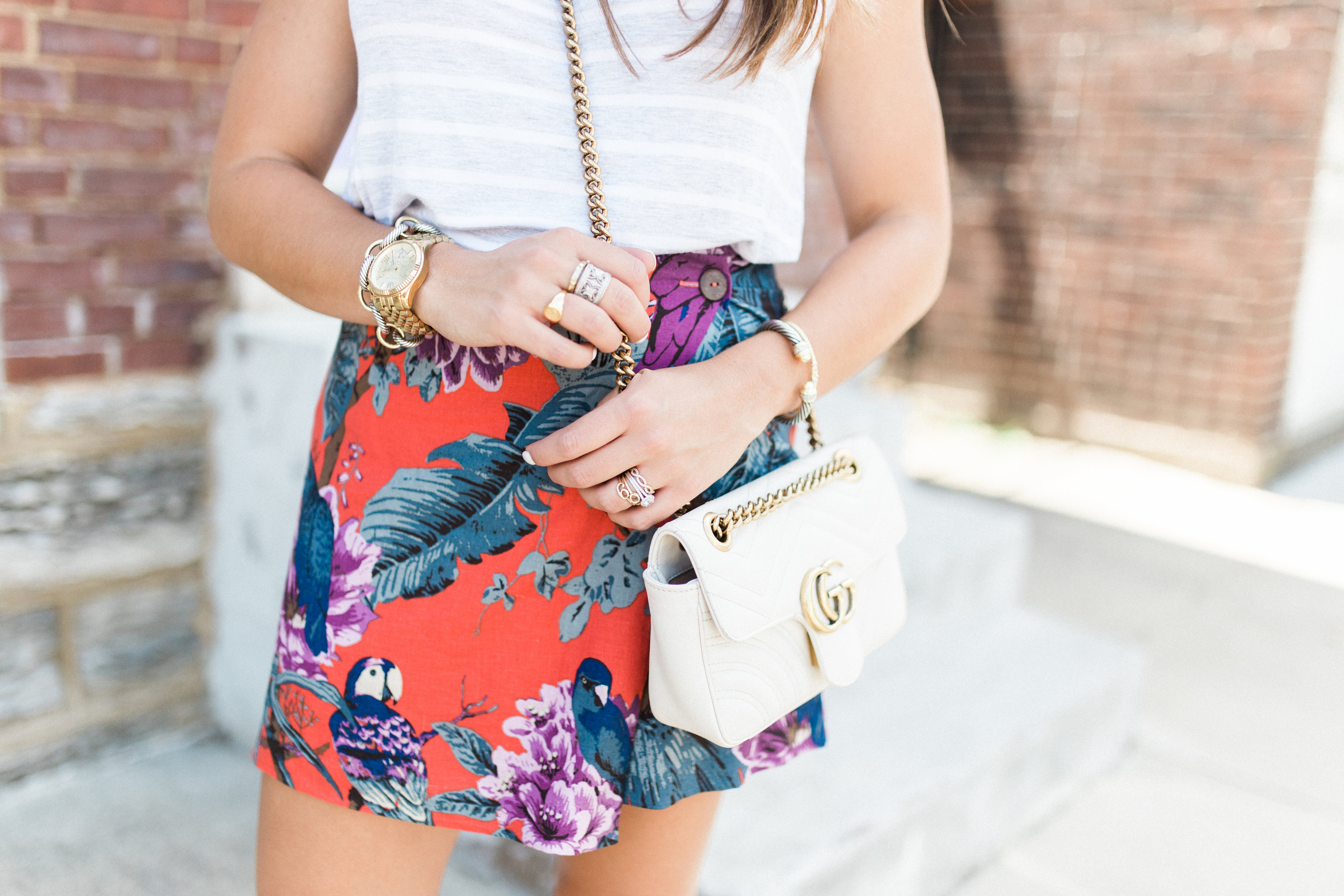 Tropical Skirt / Print Mixing