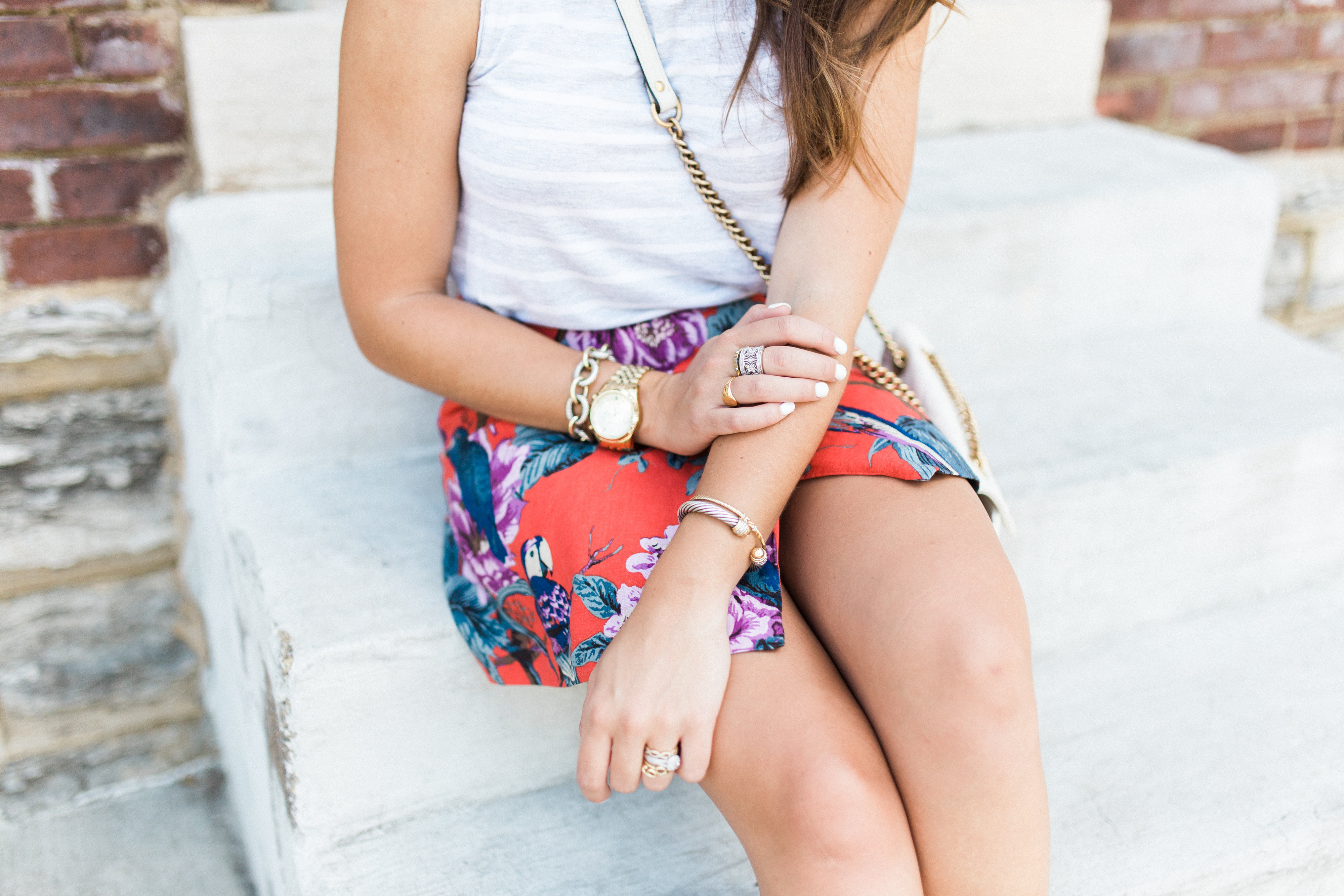 Tropical Skirt / David Yurman Jewelry