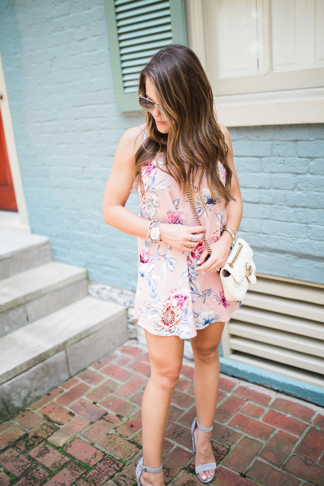 Summer to Fall Floral Dress / transitional style