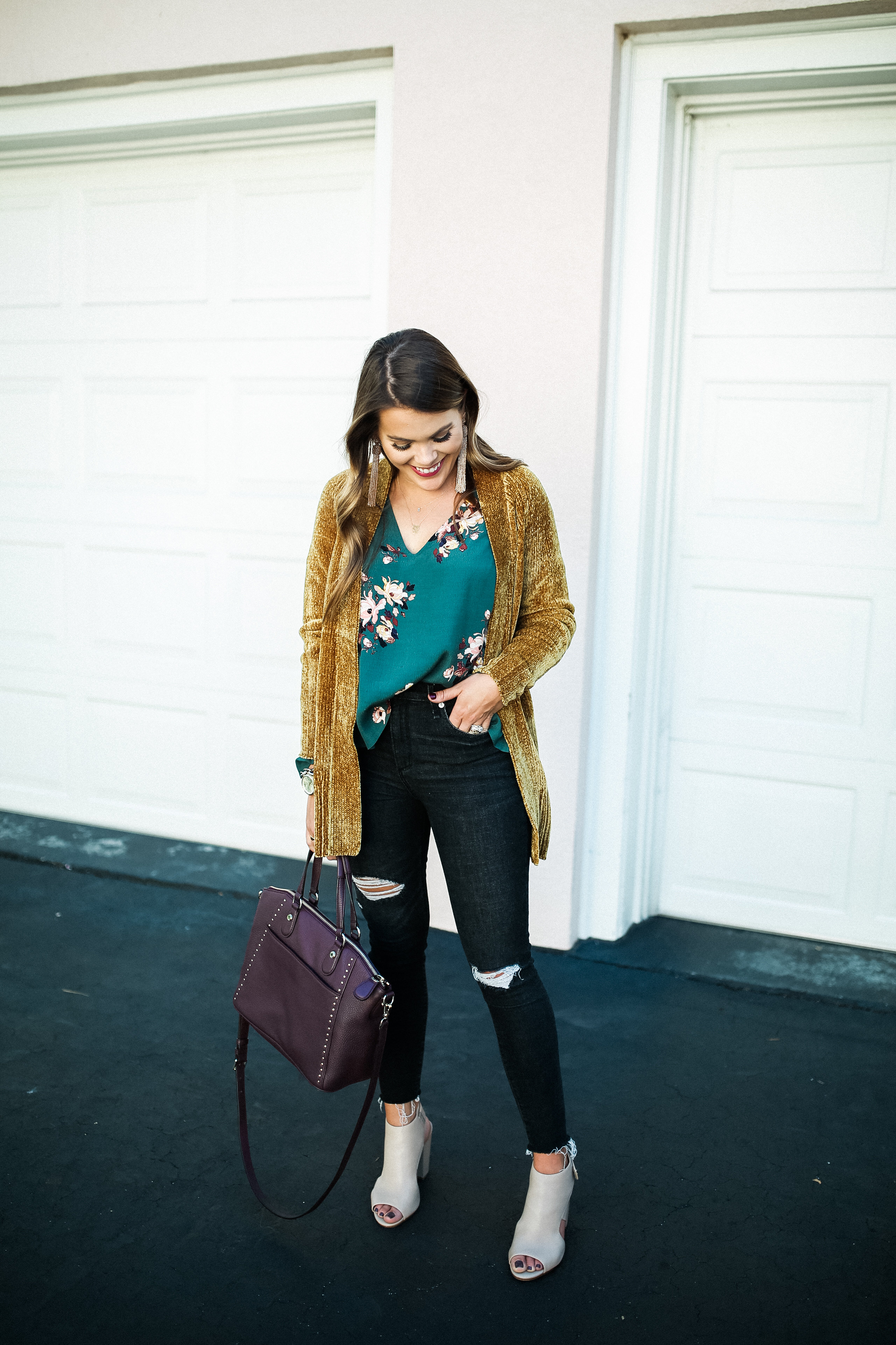 Must Have Sweaters For Fall / Fall Floral Blouse