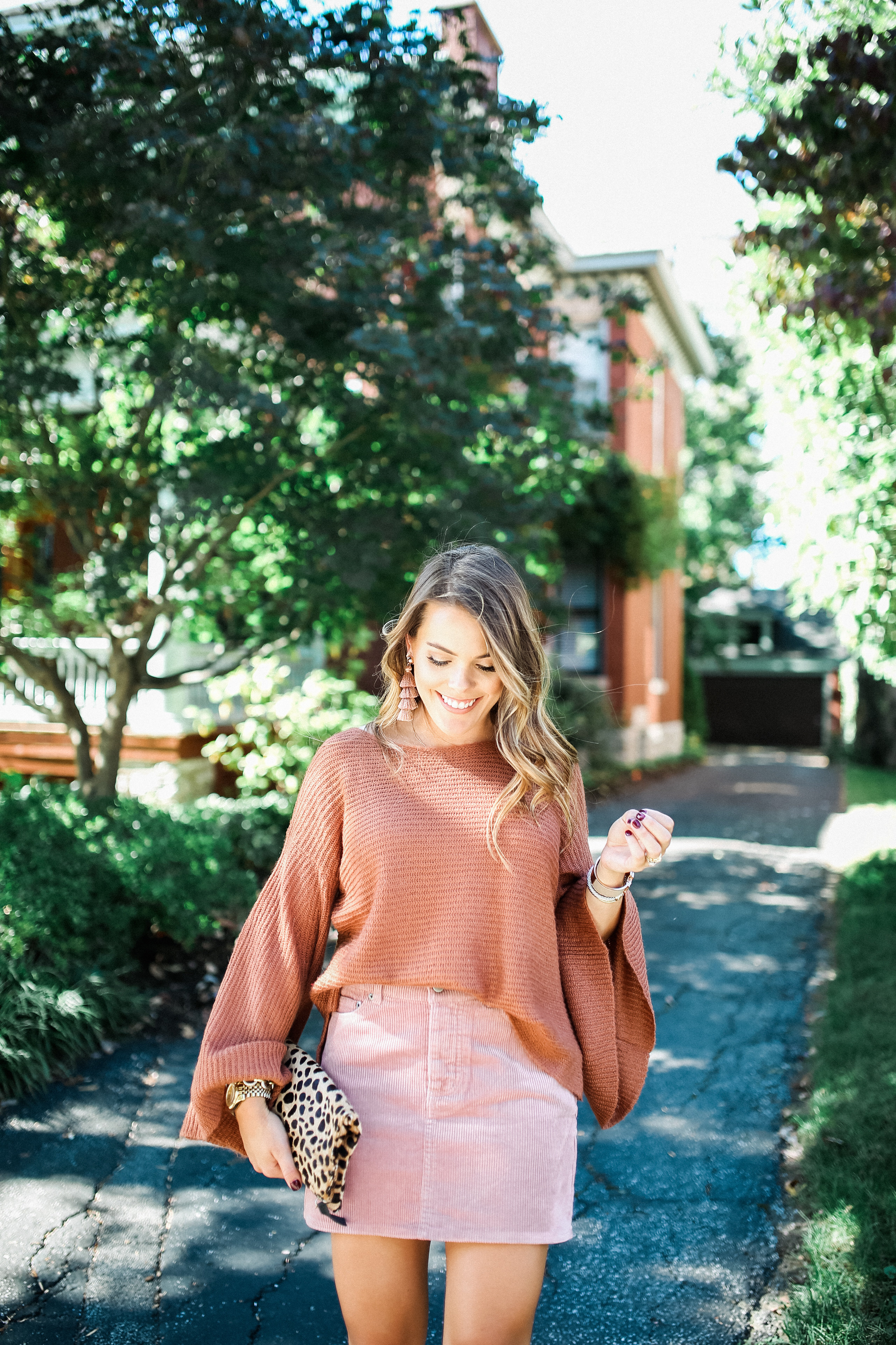 Fall Color Combo / Affordable Bell Sleeve Sweater