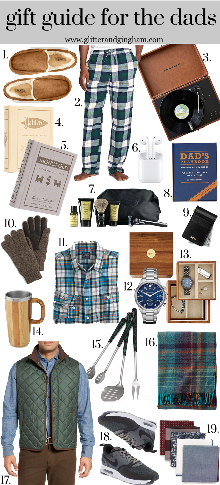 Gift Guide for you Dad / Holiday gift ideas for dads, father in laws, new dads, etc.