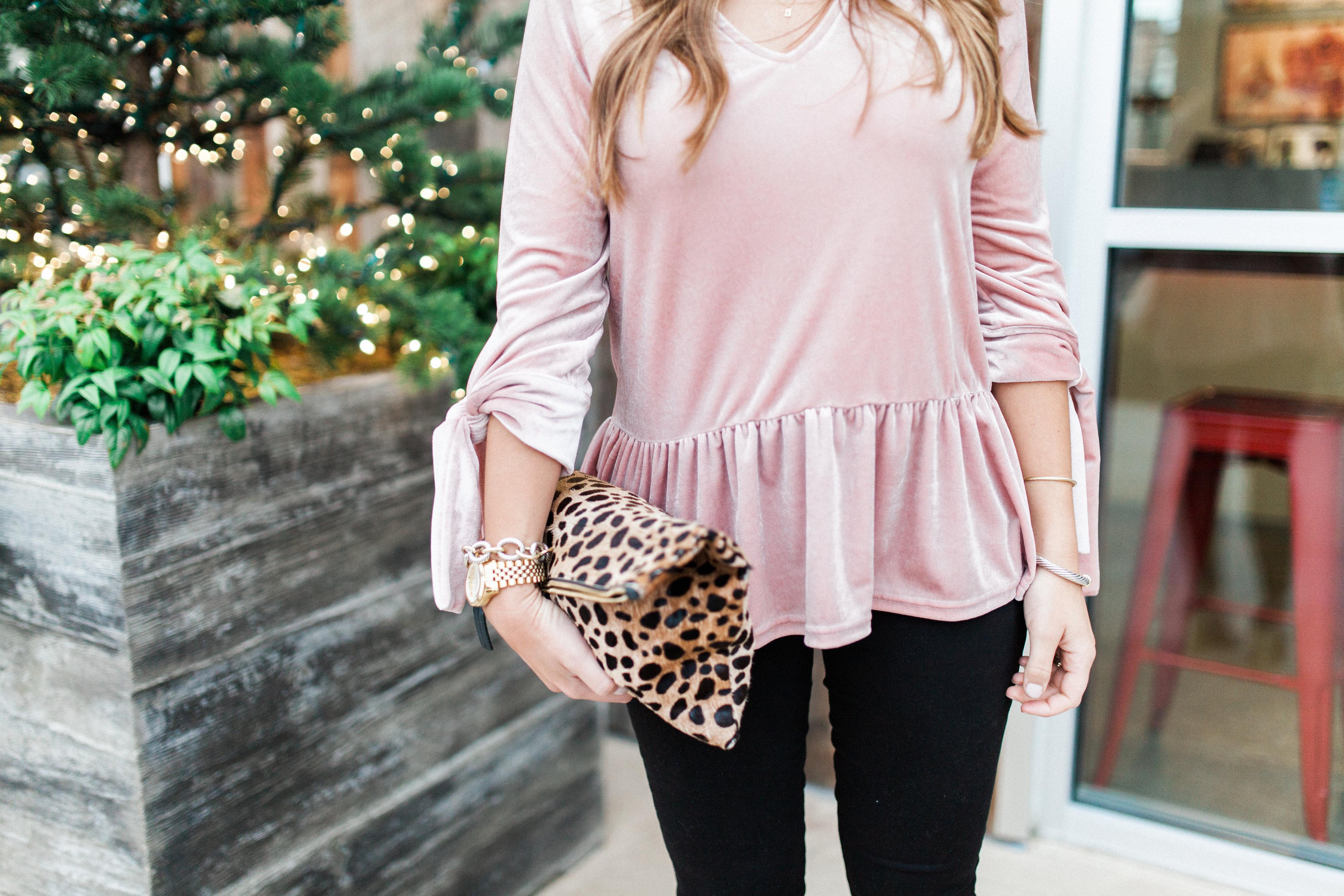 Velvet Peplum Top / Holiday Outfit Idea