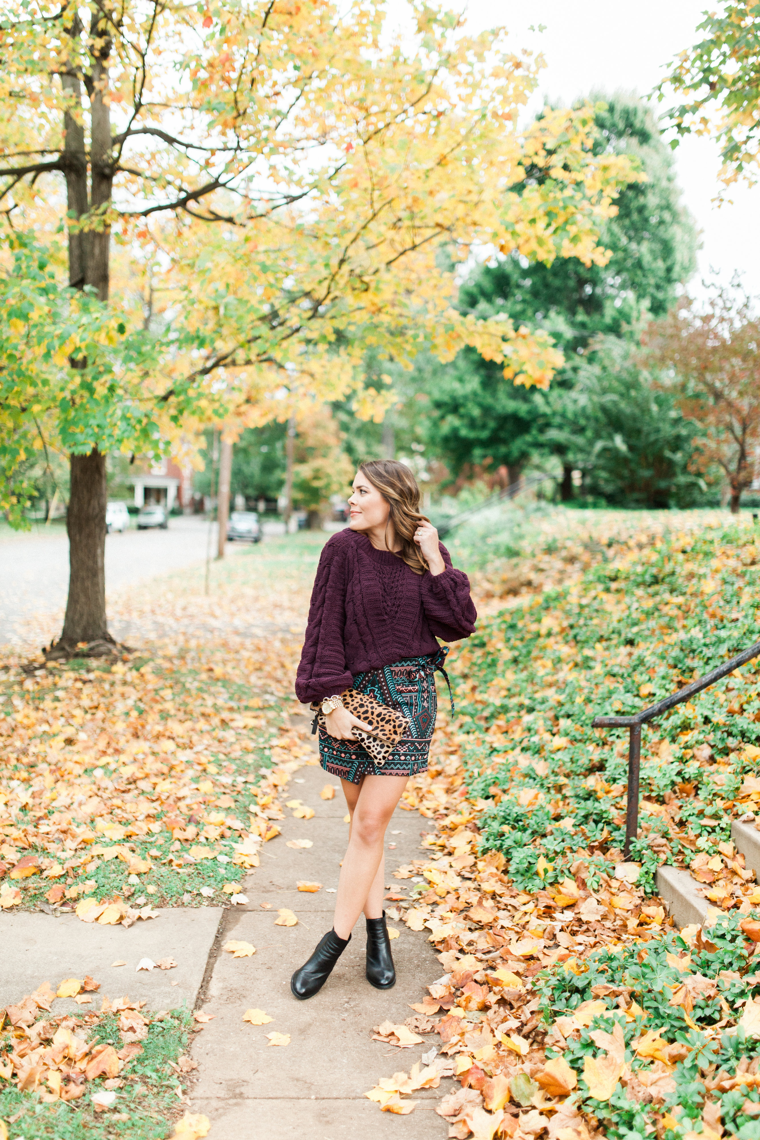 Cable Knit Chenille Sweater / Wrap Skirt for fall