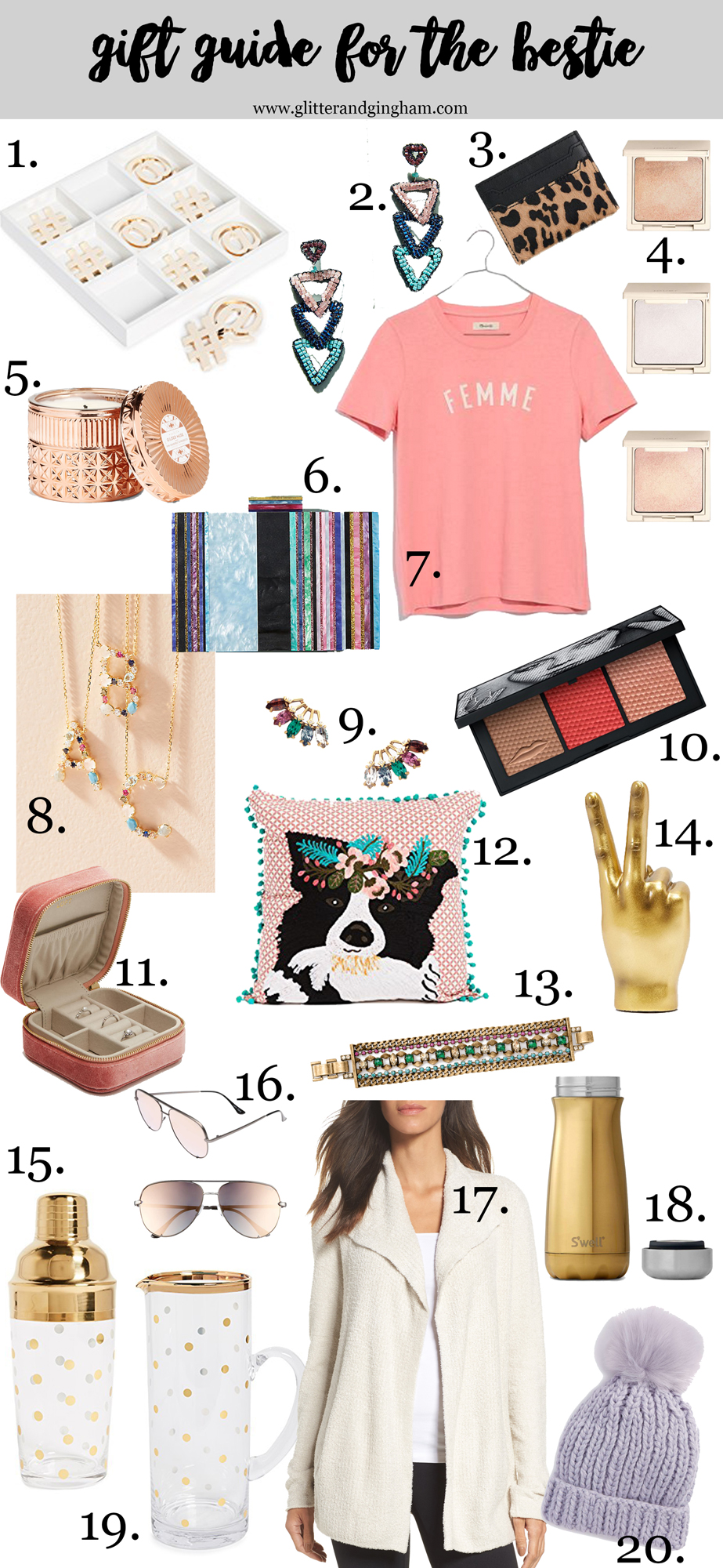Holiday Gift Guide for Her / Gift Ideas for your bff