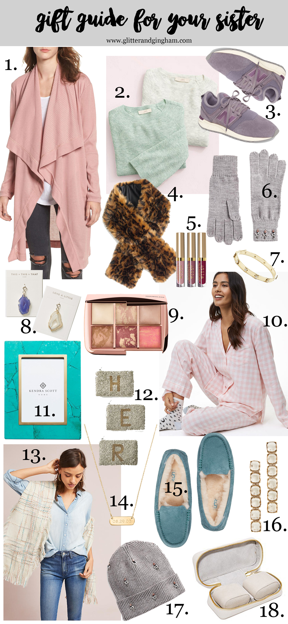 Holiday Gift Guide For Her / gift ideas for your sister