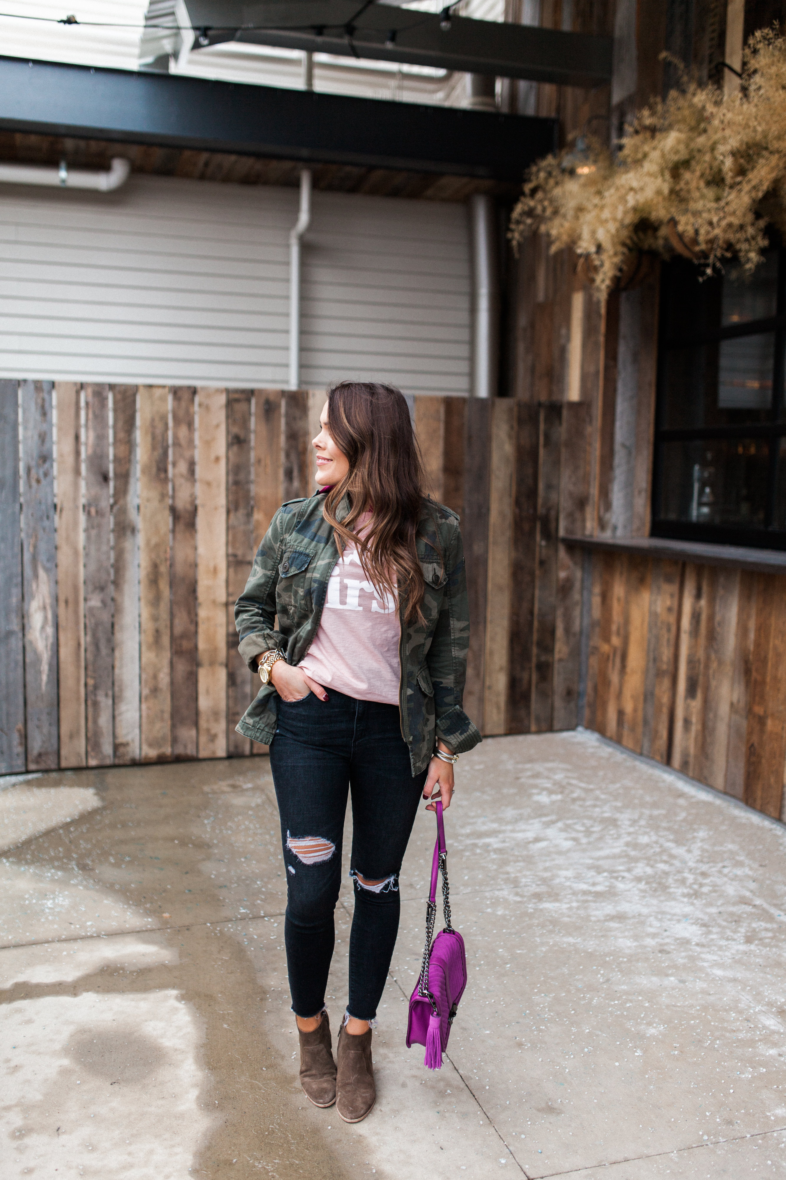J. Crew Love First Tee / Casual Valentine's Day Inspired Look
