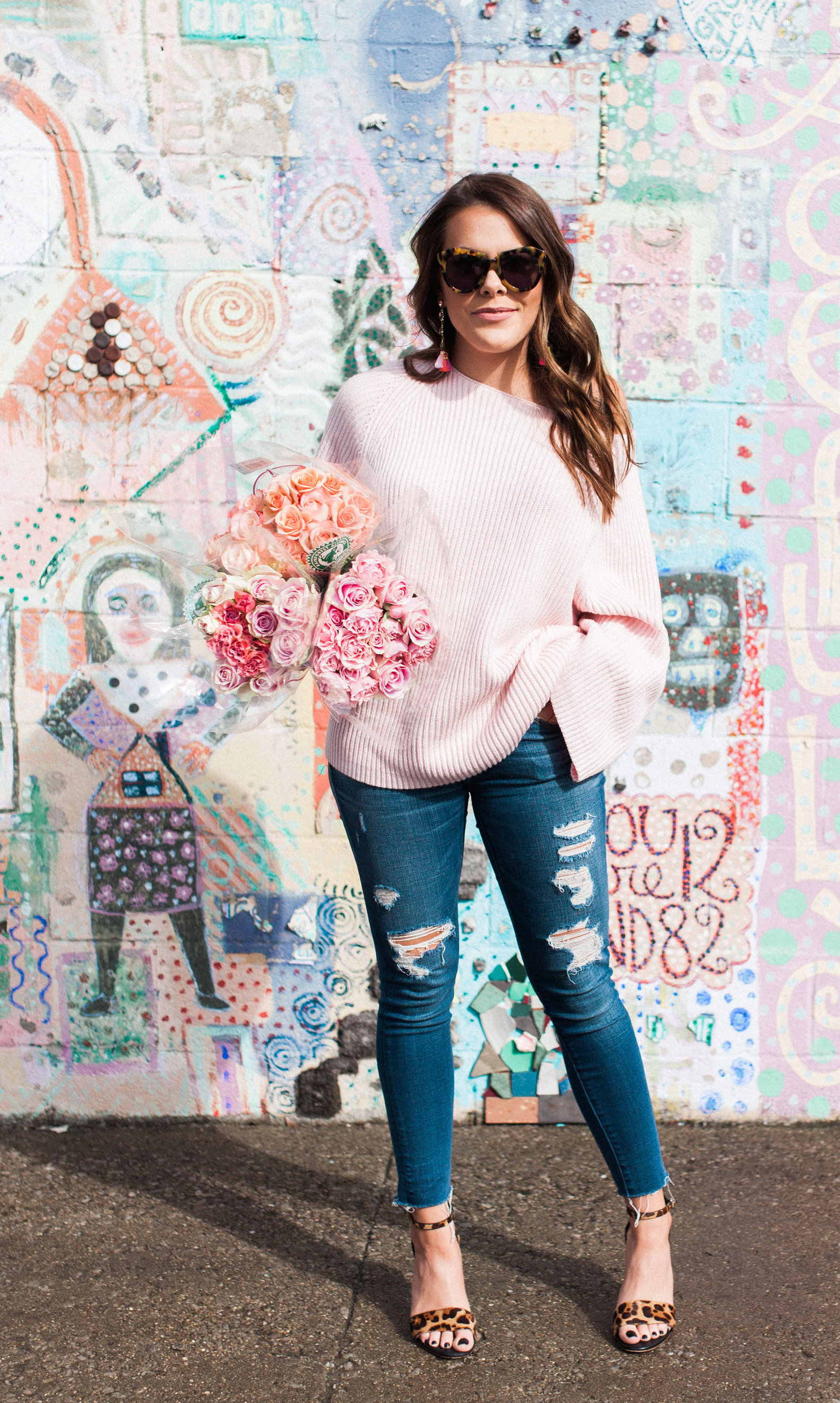Galentines Day Outfit / Lou & Grey Sweater