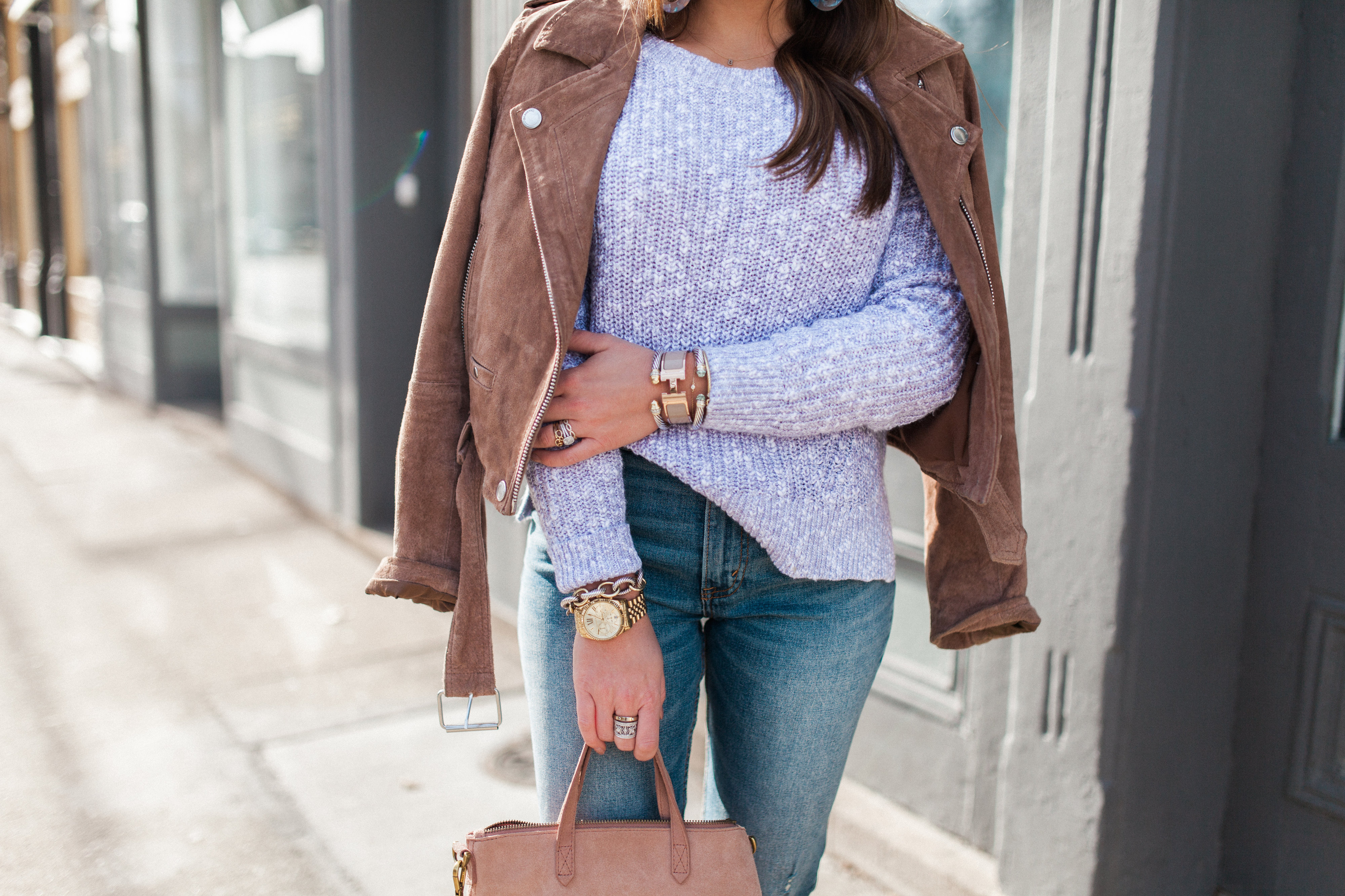 Suede Jacket for Spring / Spring Outfit Idea