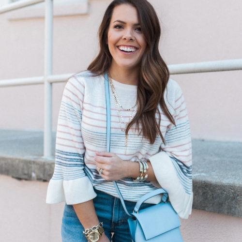 Spring Stripe Sweater / How to wear boyfriend jeans