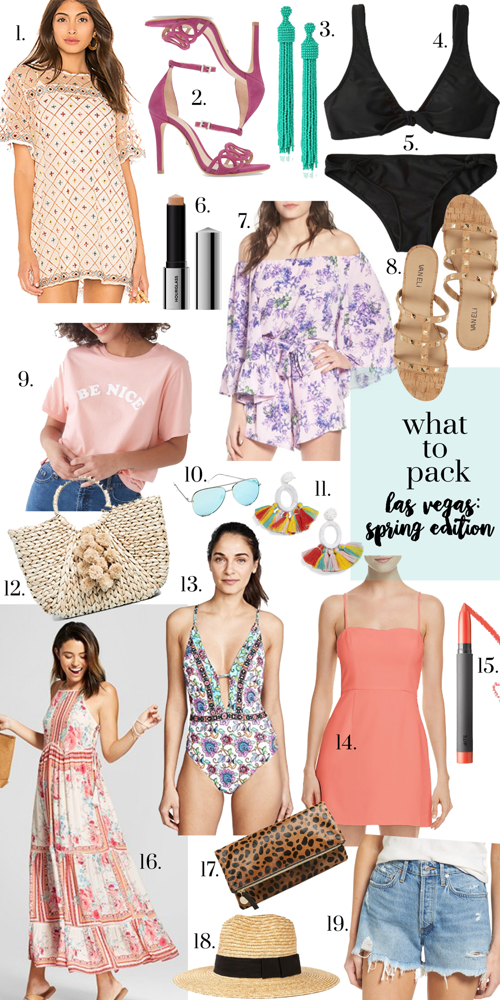 what to pack for a weekend in vegas glitter gingham