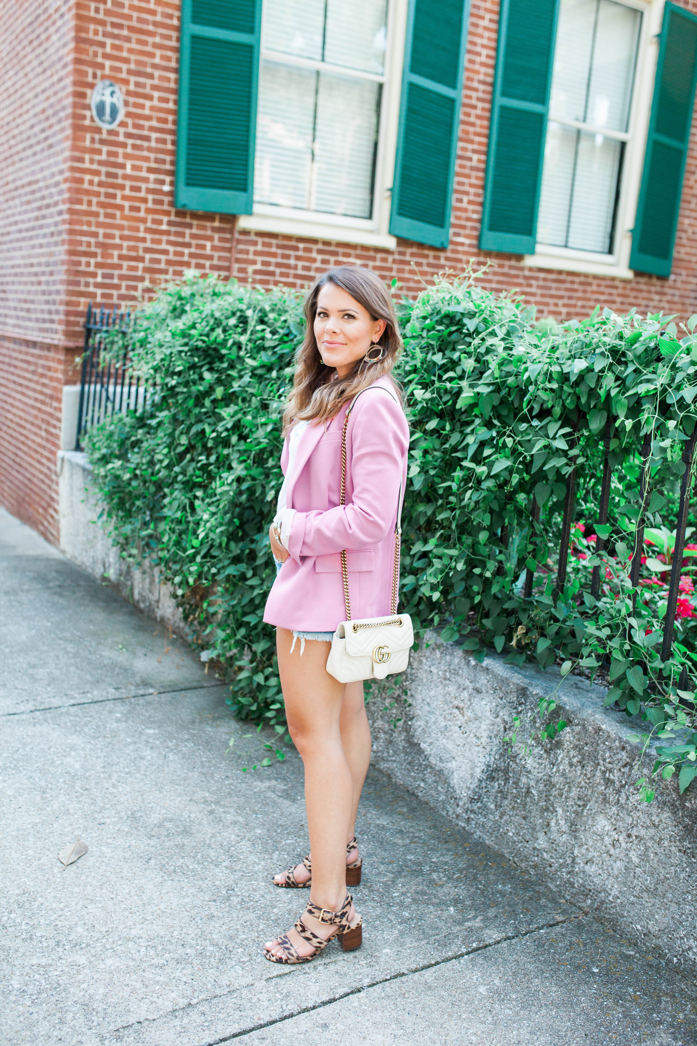 54b4e966c60644 How To Dress Down a Pink Blazer - Glitter & Gingham
