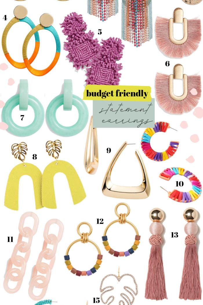 Budget Friendly Statement Earrings