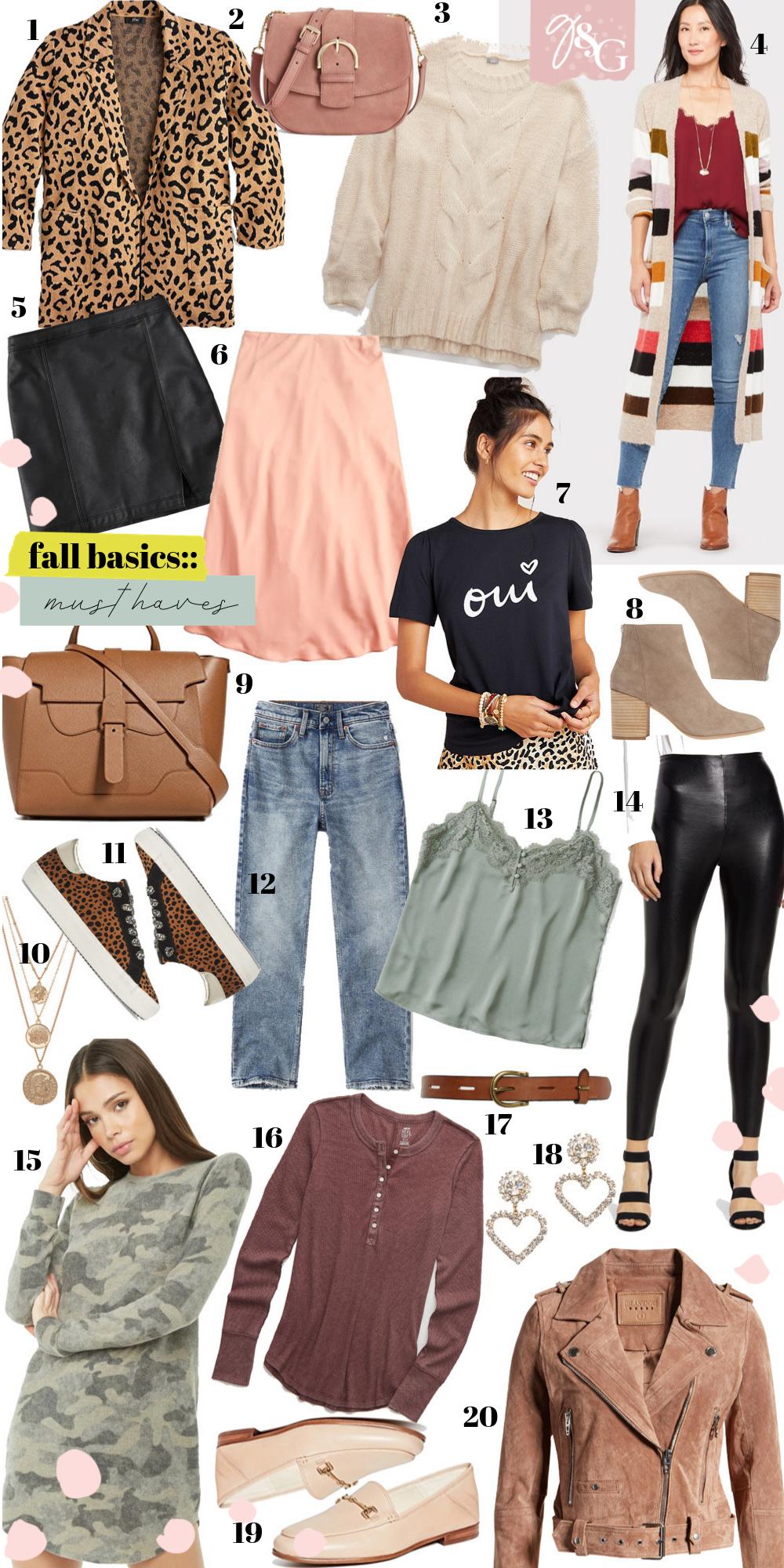 Fall Basics:: Must Haves - Glitter & Gingham